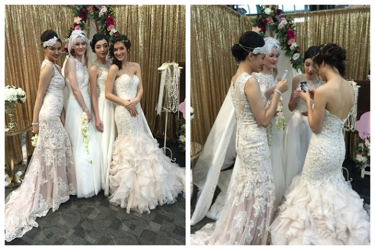 model brides at a bride show in victoria
