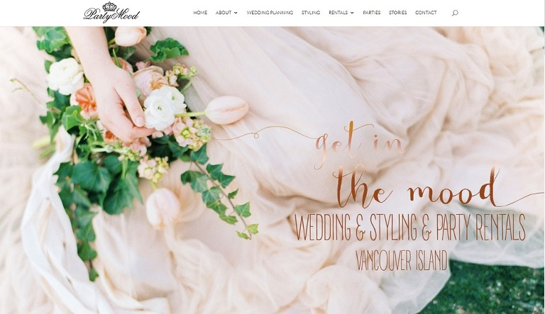 Party Mood website for brides on Vancouver Island