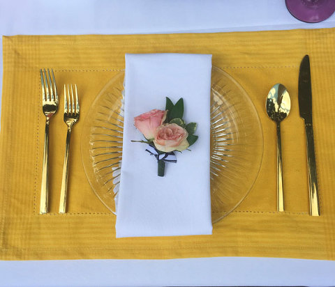 place setting at a party in victoria