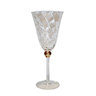 Gold ball wine glass wedding decor rental