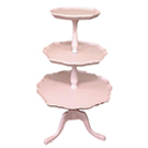 Three tier pink cake stand wedding decor rental item