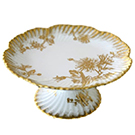 Birkly Gold Small Cake Stand wedding decor rental items.