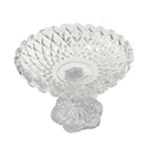 "Crystal ""Diamond"" candy dish wedding decor rental item"