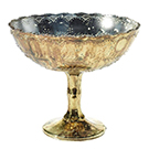 Gold Desiray Compote Vase wedding rental decor item.